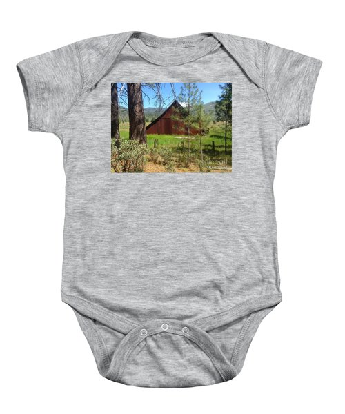 Old Red Barn Baby Onesie