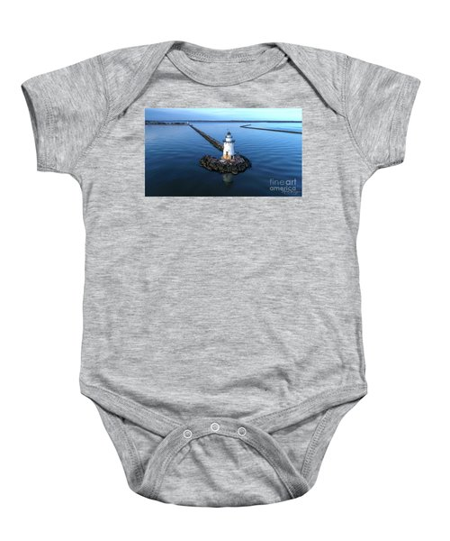 Old Saybrook Outer Lighthouse Baby Onesie
