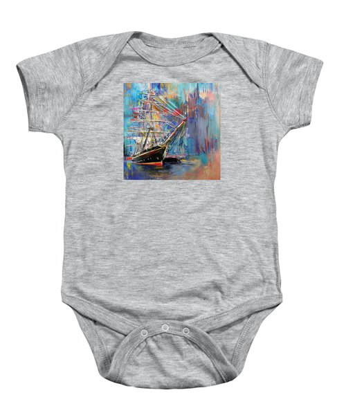 Old Ship 226 1 Baby Onesie by Mawra Tahreem