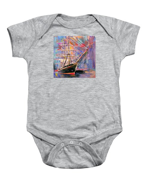 Old Ship 226 4 Baby Onesie by Mawra Tahreem