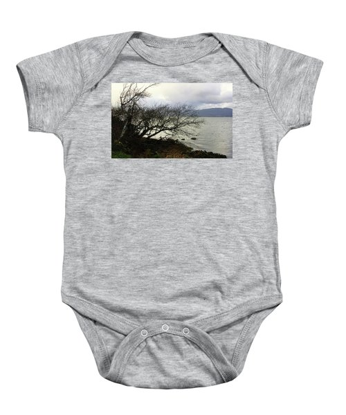 Old Tree By The Bay Baby Onesie
