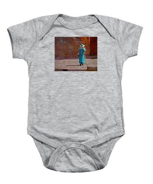 A Woman Walking Home Baby Onesie