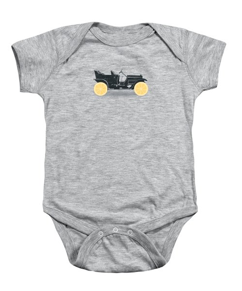 Oldtimer Historic Car With Lemon Wheels Baby Onesie by Philipp Rietz