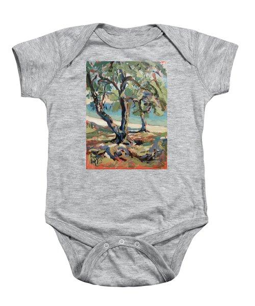 Olive Trees Along Marmari Beach Paxos Baby Onesie