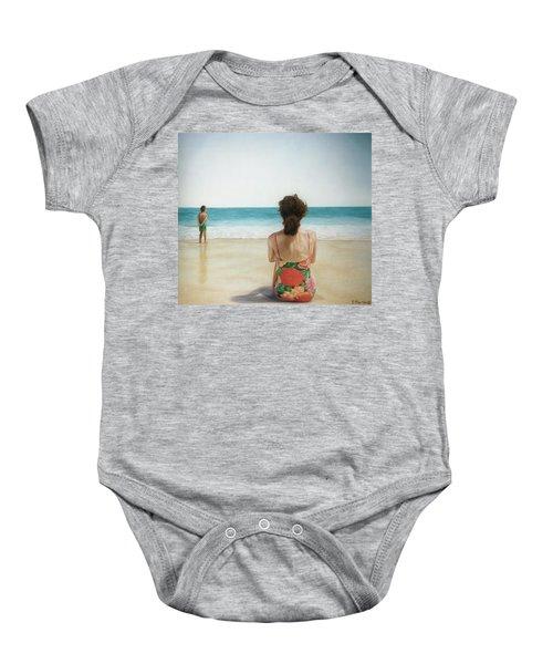 On The Beach Baby Onesie