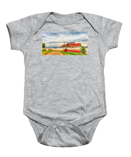 On The Lake Baby Onesie
