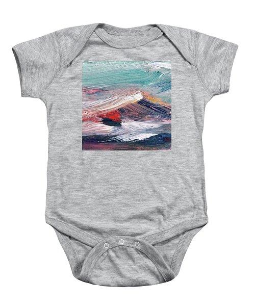 Wave Mountain Baby Onesie