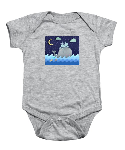 One Wonderful Whale With Fabulous Fishy Friends Baby Onesie by Little Bunny Sunshine