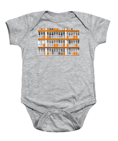 Orange Exterior Decoration Details Of Modern Flats Baby Onesie