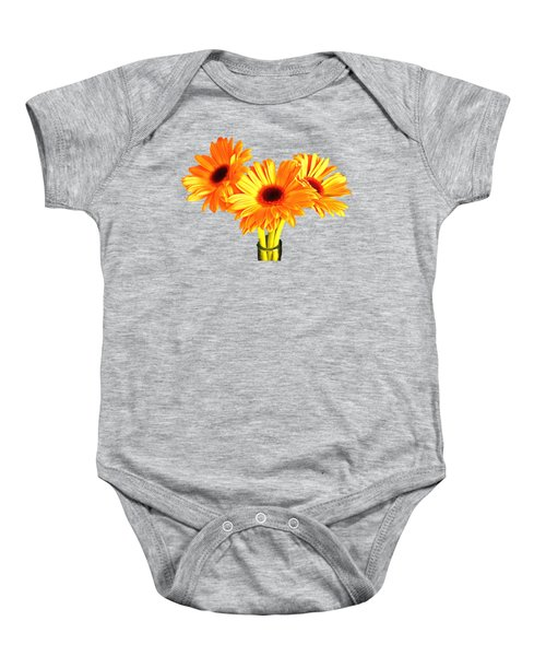 Orange Gerbera's Baby Onesie by Scott Carruthers