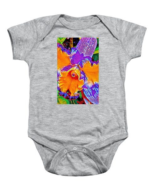 Orchid Psychedelic Baby Onesie