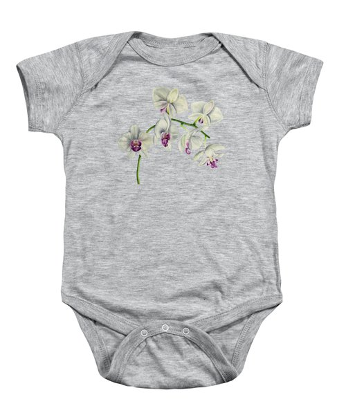 Orchid Watercolor Painting Baby Onesie