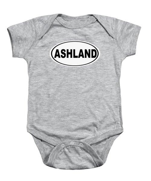 Oval Ashland Oregon Or Ohio Home Pride Baby Onesie
