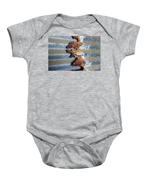 Baby Onesie featuring the photograph Over And Above by Stephen Mitchell