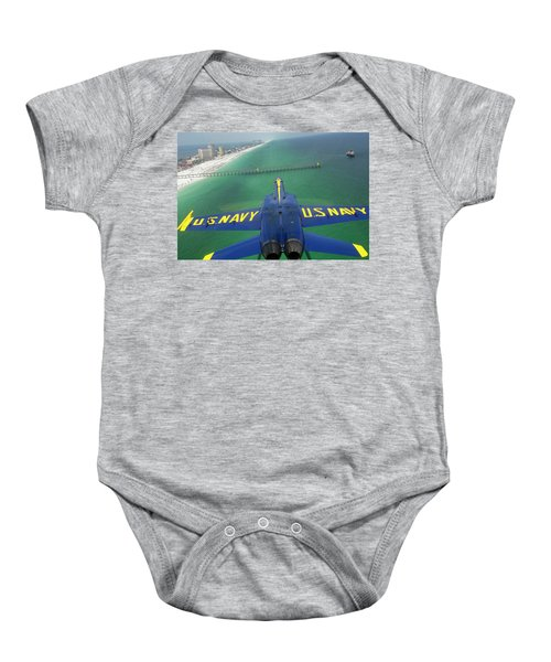 Baby Onesie featuring the photograph Over Pensacola Beach by Specialist 3rd Class Andrew Johnson
