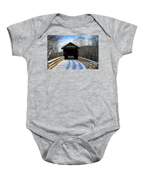 Over The River And Through The Bridge Baby Onesie