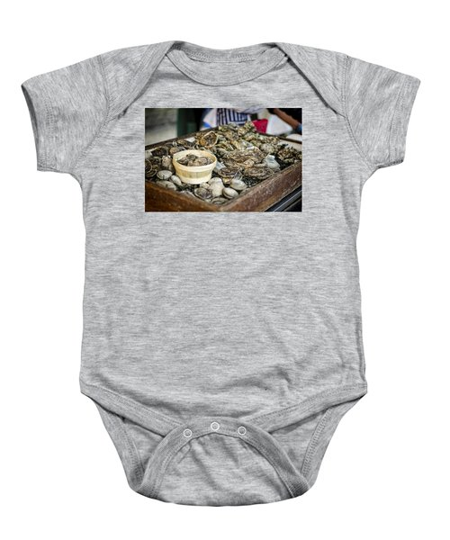 Oysters At The Market Baby Onesie