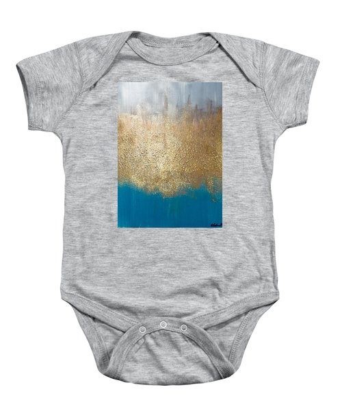 Paint The Sky Gold Baby Onesie