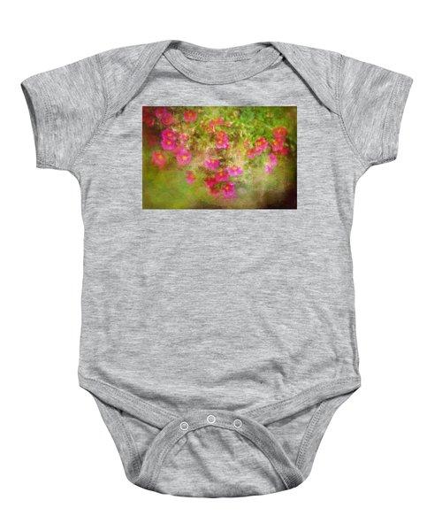 Painted Flowers Baby Onesie