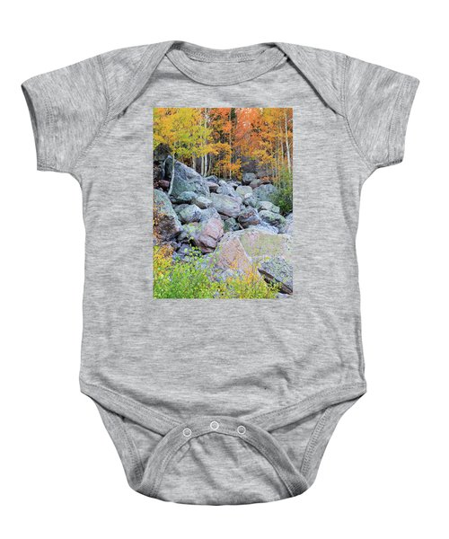 Painted Rocks Baby Onesie by David Chandler