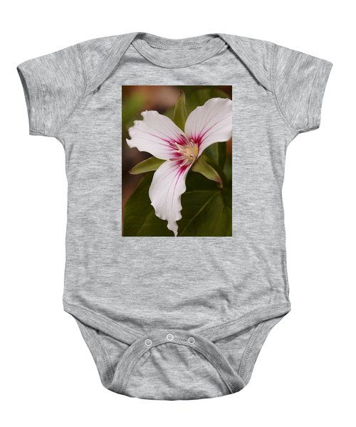 Painted Trillium II Baby Onesie