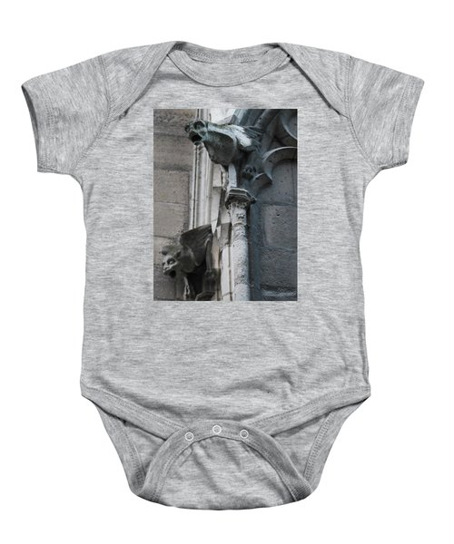 Pair Of Griffons Of Notre Dame Baby Onesie