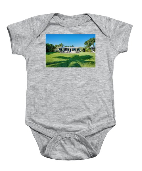 Palm Back Yard Baby Onesie