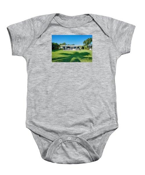 Palm Back Yard Baby Onesie