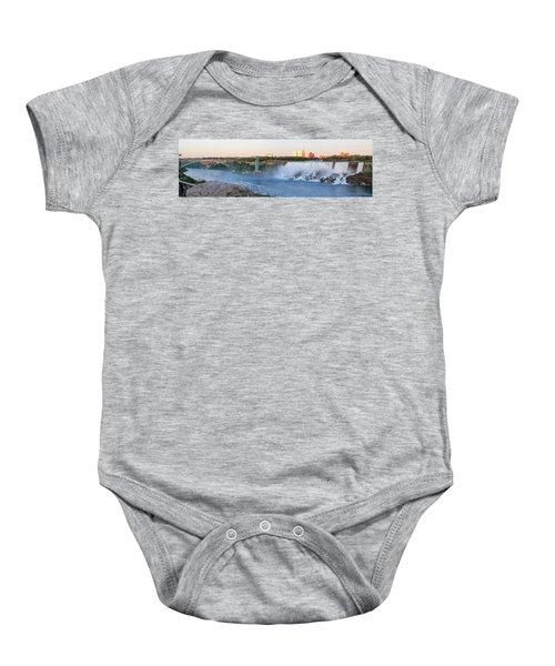 Panoramic Views Of The Peacebridge, Niagara River And American Falls Baby Onesie