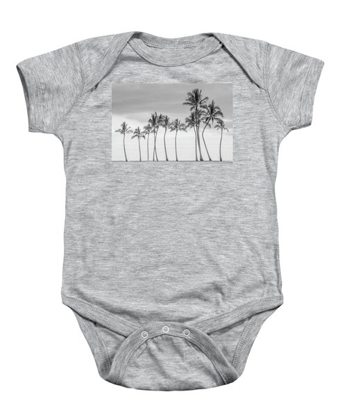 Paradise In Black And White Baby Onesie