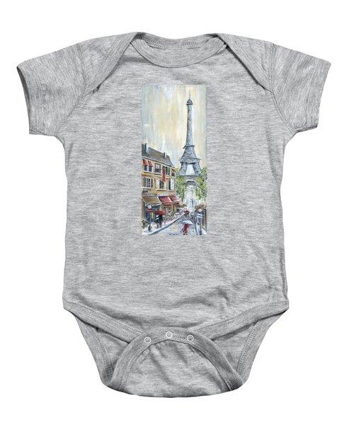 Poodle In Paris Baby Onesie