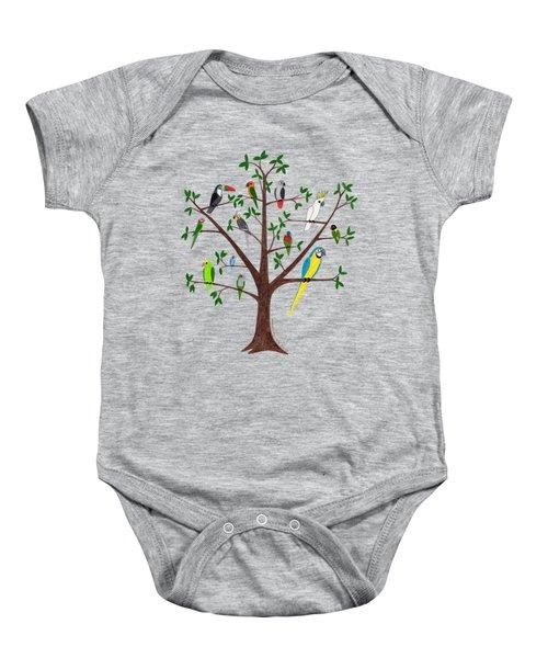 Parrot Tree Baby Onesie