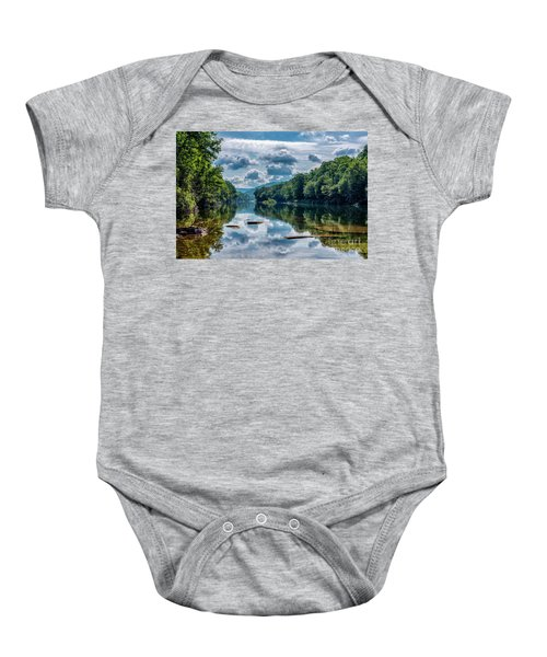 Partially Cloudy Gauley River Baby Onesie