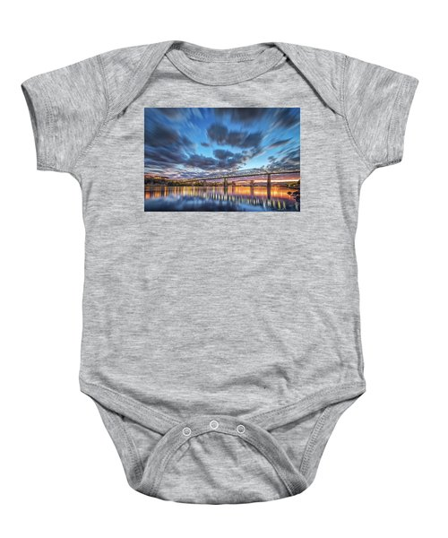 Passing Clouds Above Chattanooga Baby Onesie