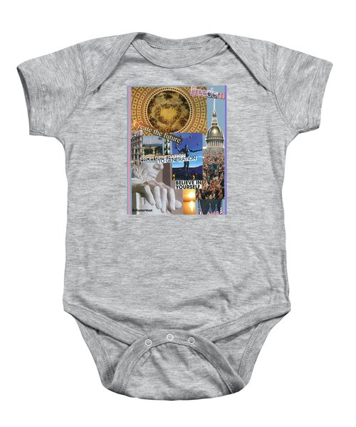 Past Present Future Baby Onesie