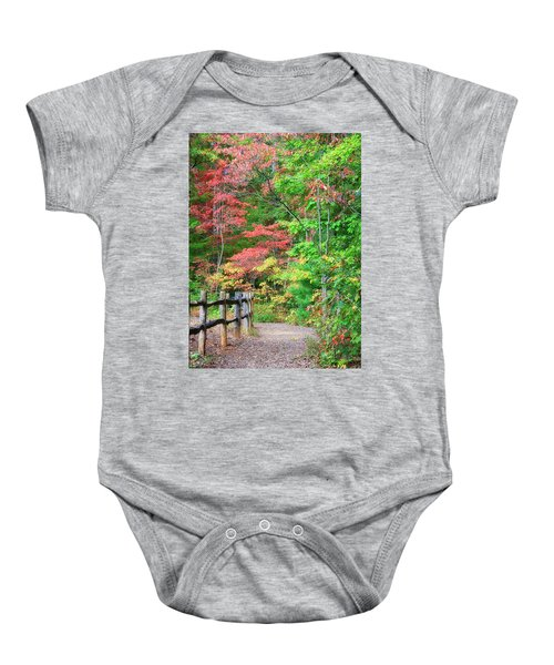 Path In The Woods Baby Onesie