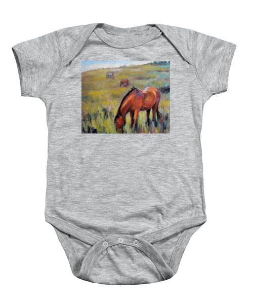 Peace On The Mountain Baby Onesie