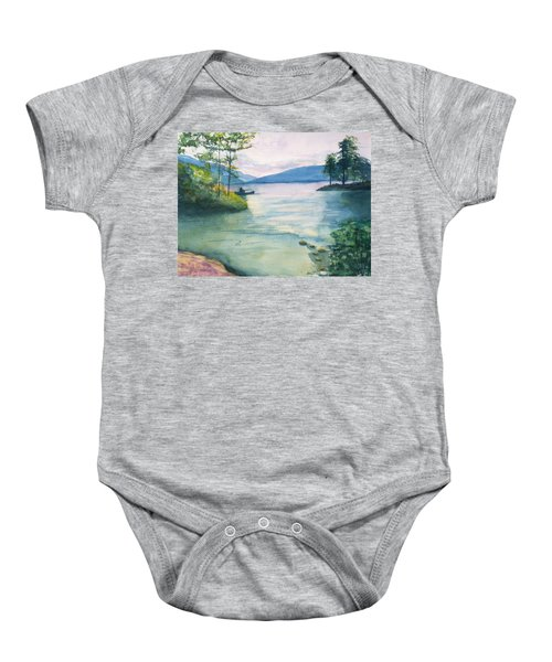 Peace On The Water  Baby Onesie