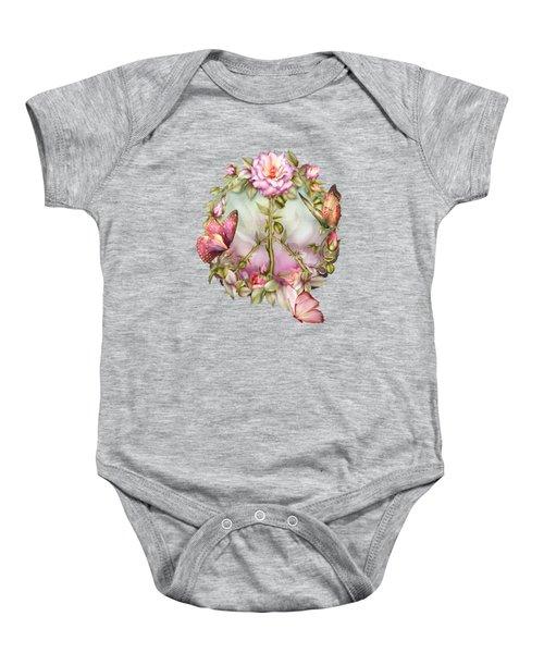 Peace Rose Baby Onesie