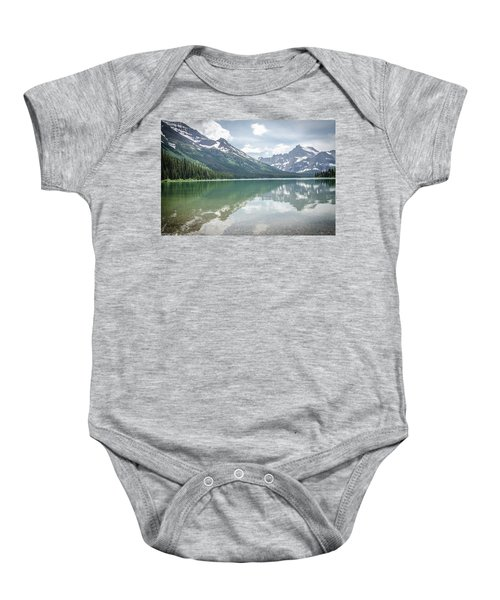 Peaks At Lake Josephine Baby Onesie
