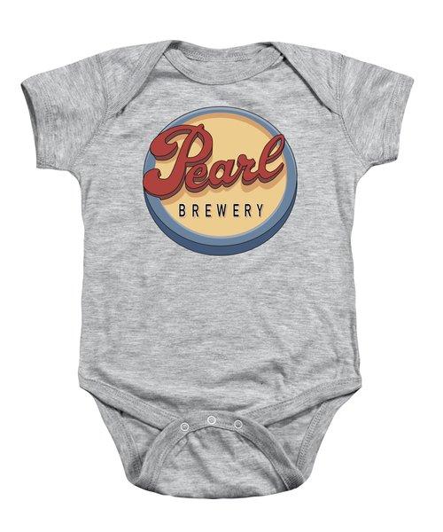 Pearl Brewery Sign Baby Onesie