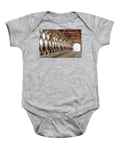 Pedestrian Bridge Guelph Ontario Baby Onesie