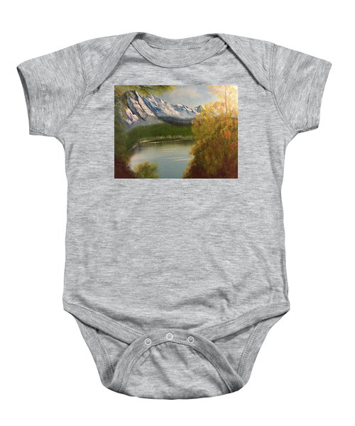 Peek-a-boo Mountain Baby Onesie