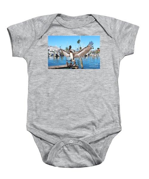 Pelican Flying In Baby Onesie