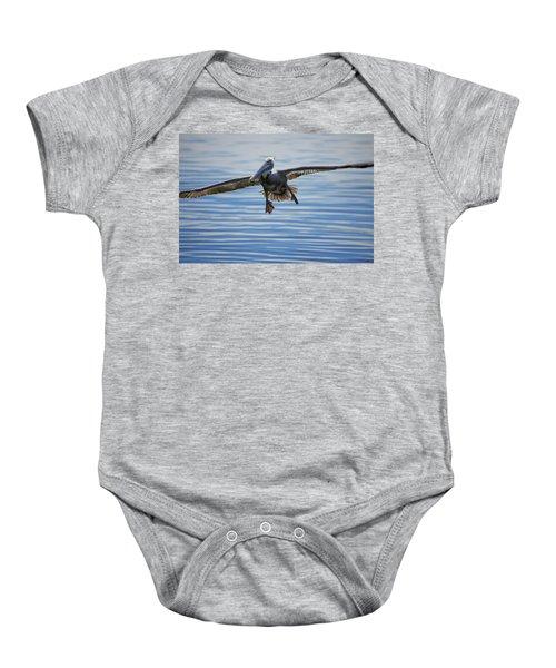 Pelican On Approach Baby Onesie