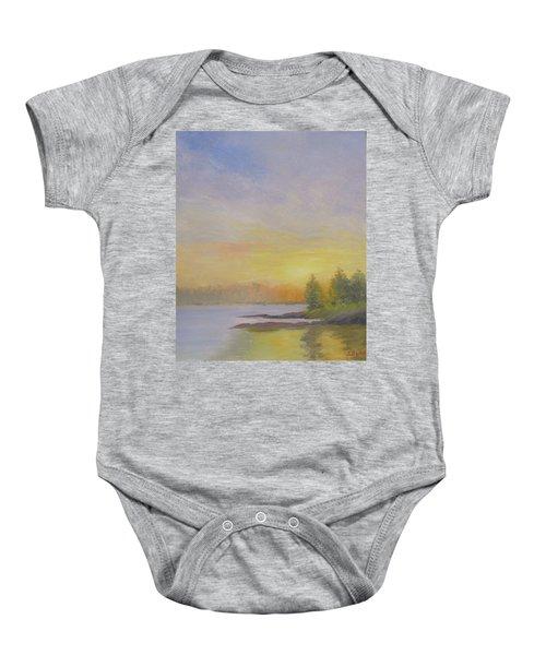 Pemaquid Beach Sunset Baby Onesie