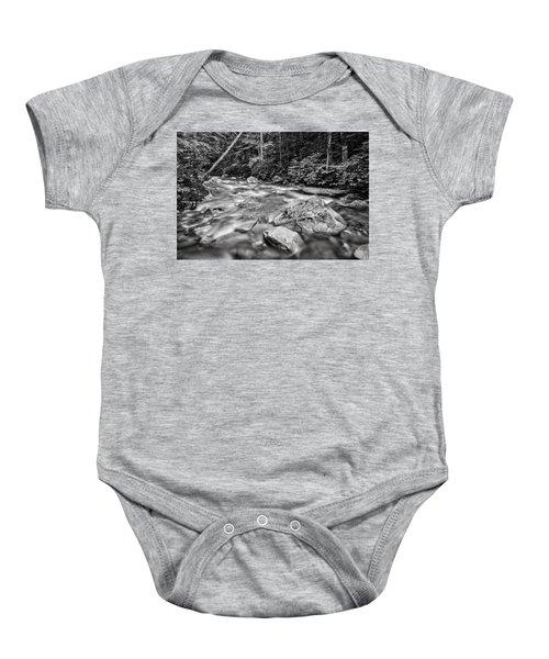Pemi River Black-white Baby Onesie
