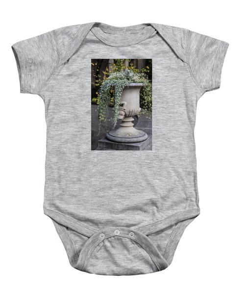 Penn State Flower Pot  Baby Onesie by John McGraw