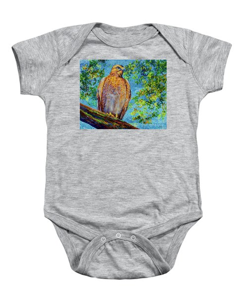 Perched Hawk Baby Onesie
