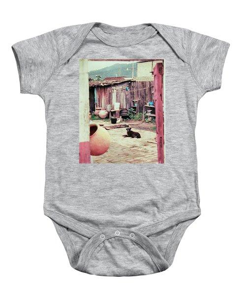 Perro On The Patio Baby Onesie